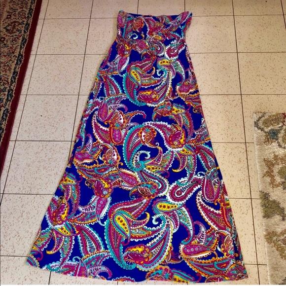 Banana Republic Dresses & Skirts - BANANA REPUBLIC STRAPLESS MAXI SZ 8 paisley style